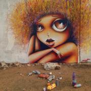 Street art by Vinie in Dakar