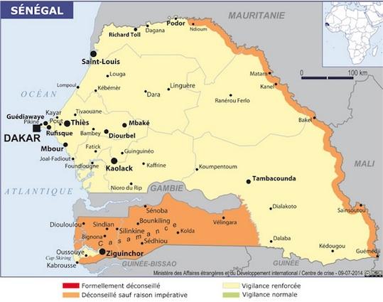 La diplomatie pour changer le niveau d'alerte de la Casamance